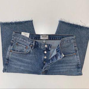NWT AGOLDE Carrie Long Length Shorts
